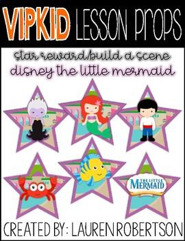 VIPKID Lesson Props- Disney Little Mermaid Stars