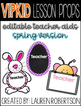 VIPKID Lesson Props- Editable Teacher Aids- Spring Version