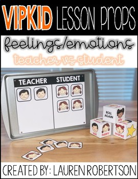 VIPKID Lesson Props- Feelings and Emotions- Teacher VS Student Reward Game