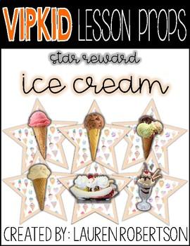 VIPKID Lesson Props- Ice Cream Stars