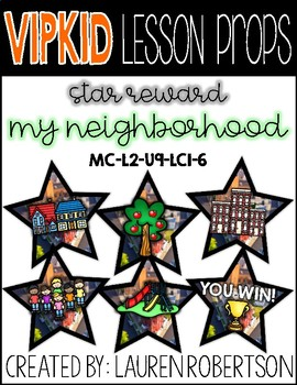 VIPKID Lesson Props- My Neighborhood Stars- MC-L2-U9-LC1-6