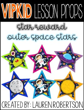 VIPKID Lesson Props- Outer Space Stars