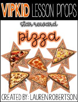 VIPKID Lesson Props- Pizza Stars