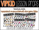 VIPKID Lesson Props- Reward Menu/What do you like? Teaching Aids