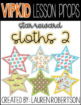 VIPKID Lesson Props- Sloth 2 Stars
