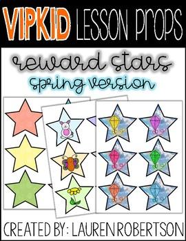 VIPKID Lesson Props- Star Rewards- Spring Version
