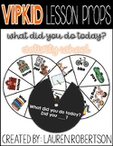VIPKID Lesson Props- What did you do today?- Activity Wheel