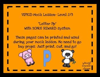 VIPKID Letter Pp Mock Lesson