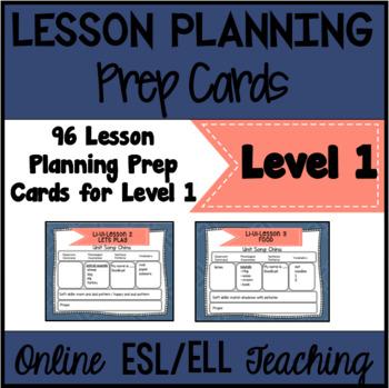 Online ESL Lesson Planning Prep Cards (VIPKID Level 1 - PreVIP)