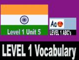 VIPKID Level 1 (Pre-VIP): Unit 1-12 Vocabulary