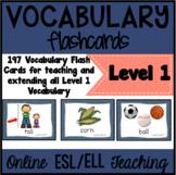 VIPKID Level 1 (Pre-VIP) Vocabulary Prop Cards Units 1 -12