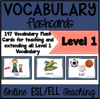 Online ESL Vocabulary Prop Cards (VIPKID Level 1 - PreVIP)