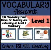 Online ESL Vocabulary Prop Cards (VIPKID Level 1 - PreVIP)