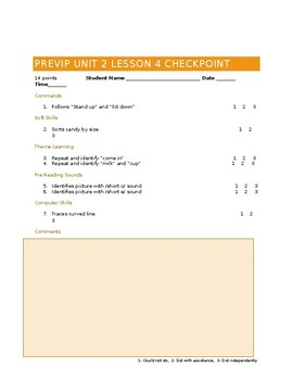 VIPKID Level 1 (PreVIP) Units 1,2 and 3 Checkpoints and Assessments BUNDLE