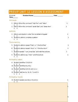 VIPKID Level 1 (PreVIP) Unit 12 Lesson 8 Assessment