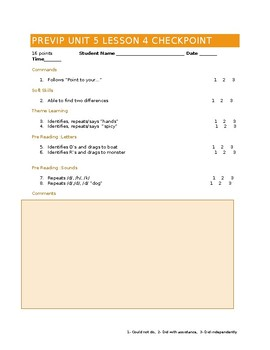 VIPKID Level 1 (PreVIP) Unit 5 Lesson 4 Checkpoint