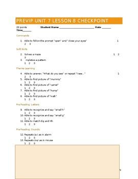 VIPKID Level 1 (PreVIP) Unit 7 Lesson 8 Assessment