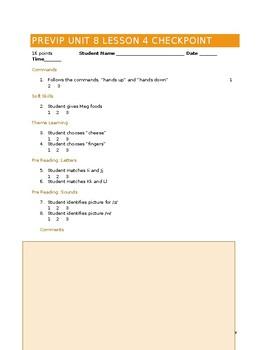 VIPKID Level 1 (PreVIP) Unit 8 Lesson 4 Checkpoint