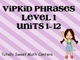 VIPKID Level 1 Units 1-12 phrase cards