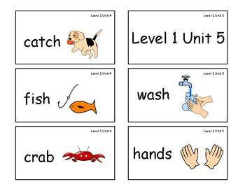 VIPKID Level 1 Units 1-12 vocab cards