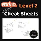 VIPKID Level 2 Cheat Sheet Cards