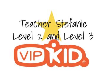 VIPKID Level 2 Interactive and Level 3 Lesson Names