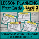 Online ESL Lesson Planning Prep Cards (VipKid Level 2) INCLUDES INTERACTIVE!