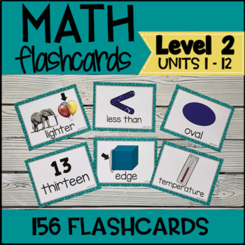VIPKID Level 2 Math Prop Cards for Online Teaching - Units 1 -12
