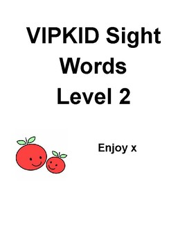 VIPKID Level 2 Sight Words