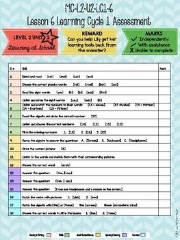 VIPKID Level 2 Unit Assessment Recording Form for Online Teaching