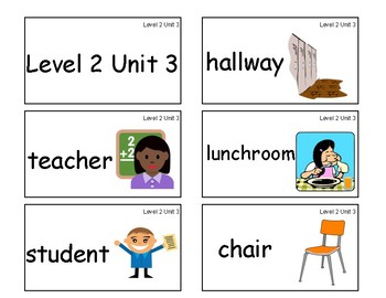 VIPKID Level 2 Units 1-12 vocab cards