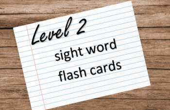 VIPKID Level 2 Sight Words Cards - Print on 4x6 index cards