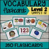 VIPKID Level 2 Vocabulary Prop Cards  Units 1 -12