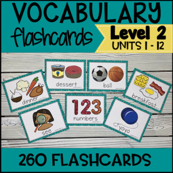 Online ESL Teaching Vocabulary Prop Cards (VIPKID Level 2)