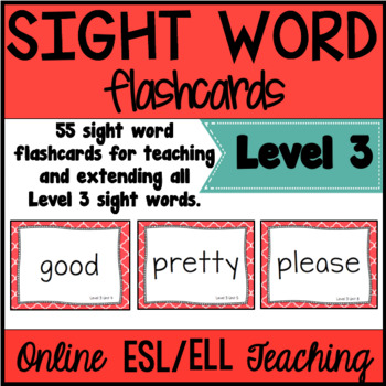 Online ESL Sight Word Flashcards (VIPKID Level 3)