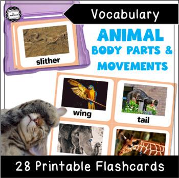 VIPKID Level 3 Unit 4: Animal Body Parts, How Do Animals Move Flashcards