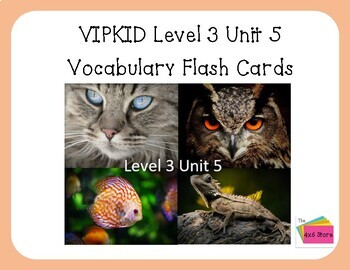 VIPKID Level 3 Unit 5 - Mammals, Birds, Fish, Reptiles -4x6 flashcards
