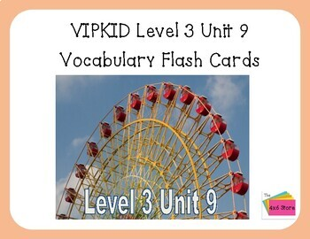 VIPKID Level 3 Unit 9: How Things Move, Let's Have Fun Moving Flashcards