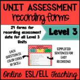 VIPKID Level 3 Unit Assessment Recording Forms for Online