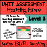 Online ESL Assessment Recording Forms (VipKid Level 3)