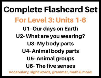 Flash Card Bundle: Level 3 Units 1-6: VIPKID
