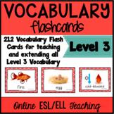 VIPKID Level 3 Vocabulary Prop Cards Units 1 -12