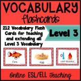 Online ESL Teaching  Vocabulary Prop Cards (VIPKID Level 3)