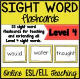 Online ESL Teaching Sight Words (VIPKID Level 4)