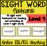 Online ESL Sight Word Flashcards (VIPKID Level 4)