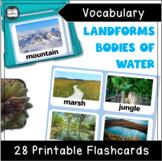 VIPKID Level 4 Unit 1 - Landform Flashcards