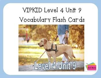 VIPKID Level 4 Unit 9: Animals That Help Us Flashcards