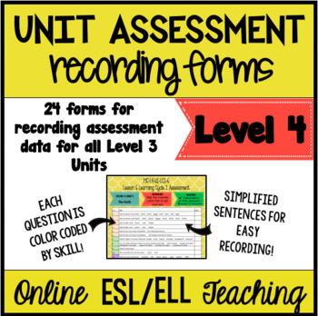 Online ESL Teaching Assessment Recording Form (VIPKID Level 4)