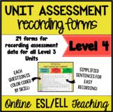 Online ESL Assessment Recording Form (VIPKID Level 4)