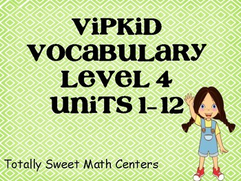 VIPKID Level 4 Units 1-12 vocab cards